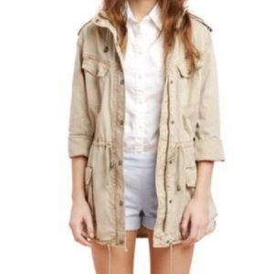 Aritzia // Talula // Trooper Utility Jacket in Tan